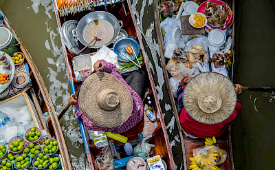 Floating market near Bangkok, Thailand. Photo via Flickr:Georgie Pauwels