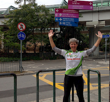 Hennie in Hong Kong