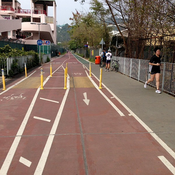 Bike path in Hong Kong