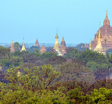 Temples in Bagan - photo by Tim Manning who was also on the trip with Hennie