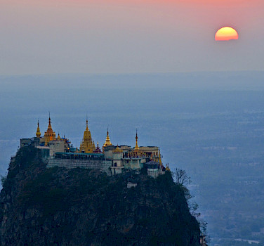 Mt. Popa @ sunset - photo courtesy of Tim Manning