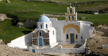 Church in Agia Paraskevi, Chalkidiki, Greece. Photo via Flickr:Klearchos Kapoutsis