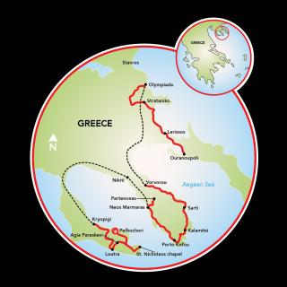 Península Halkidiki Map