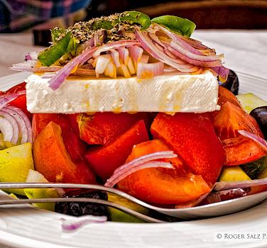 Traditional Greek salad with feta. Flickr:Roger Salz