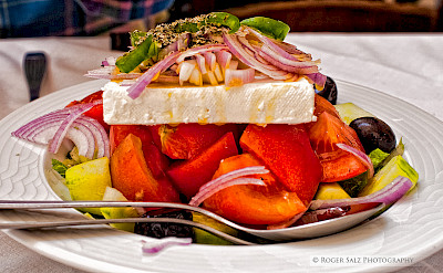 Traditional Greek salad with feta. Flickr:Roger Salz