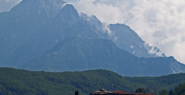 Mount Athos, Greece. Wikimedia Commons:Dave Proffer