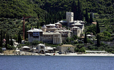 Stavronikita Monastery, one of about 20 monasteries on Mount Athos, Halkidiki, Macedonia, Greece. Wikimedia Commons:Rumun999