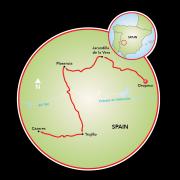 Extremadura: Spanish Land of Conquistadors Map