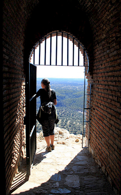 Enjoying the view from Castillo de Monfrague at Monfrague National Park, Spain. Photo via Flickr:muffinn
