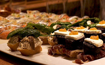 No bike tour in Spain is complete without tapas! Photo via Flickr:Katina Rogers