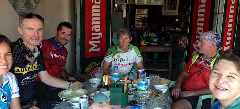Our group on the Burma Bike Tour