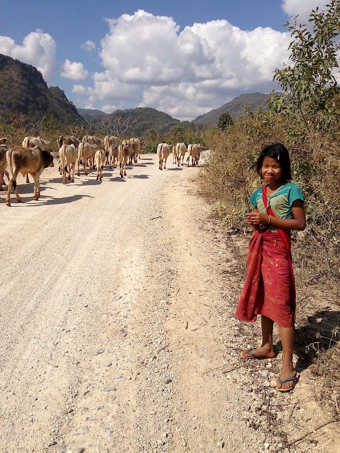 A farm girl in Burma