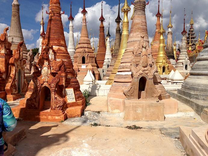 One of many pagodas along the way.