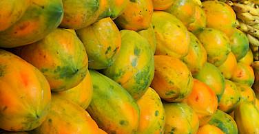 Plenty of fruit on this tropical island. Flickr:Richard Evea