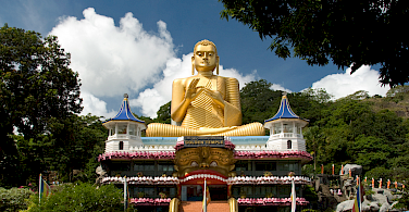 Golden Temple, the 2nd century Buddhist cave temple in Dambulla, Sri Lanka. Photo via Flickr:Malcolm Browne
