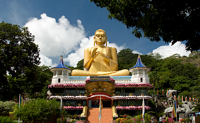 Golden Temple, the 2nd century Buddhist cave temple in Dambulla, Sri Lanka. Flickr:Malcolm Browne
