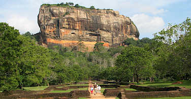Sigiriya Rock in Sigirya, Sri Lanka. Photo via Wikimedia Commons:Bernard Gagnon