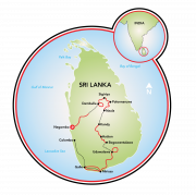 Sri Lanka Spice Trails Map