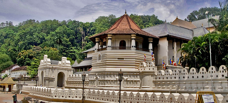Temple of the Tooth, Kandy, Sri Lanka. Photo via Flickr:Hafiz Issadeen