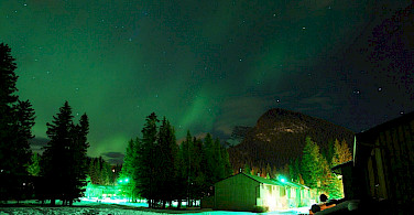 Northern Lights in Banff National Park, Alberta, Canada. Photo via Wikimedia Commons:Aurora
