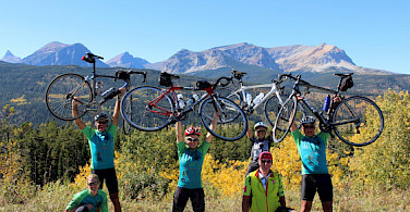 We can climb any mountain! Bikers in the Canadian Rockies. Photo courtesy of Tour Operator.