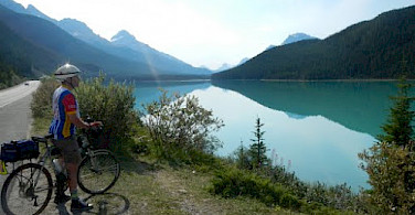 Bike rest at Waterfowl Lake, Canada. Photo courtesy of Tour Operator.