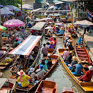 Damnoen Saduak Floating Market near Bangkok, Thailand. Photo via Flickr:Colin Tsoi