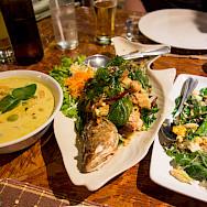 Delicious authentic Thai food in Kuraburi, Thailand. Photo via Flickr:Kent Wang