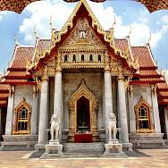 Marble Temple in Bangkok, Thailand. Photo via Flickr:Karl Baron
