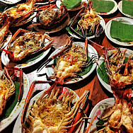 BBQ seafood in Thailand. Photo via Flickr:Vir Nakai