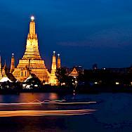 Buddhist Temple of Dawn in Wat Arun, Thailand. Photo via Flickr:Mark Fischer