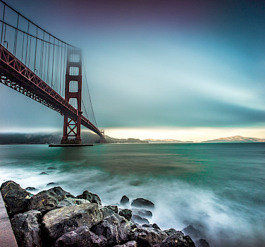 Golden Gate Bridge from Fort Point in San Francisco - photo via Flickr:Giuseppe Milo
