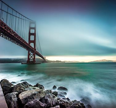 Golden Gate Bridge from Fort Point in San Francisco - photo via Flickr:Giuseppe Milo