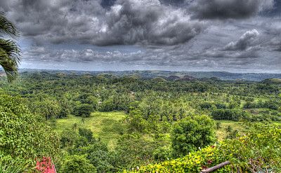 Chocolate Hills in the background here in Bohol, the Philippines. Flickr:edward musiak