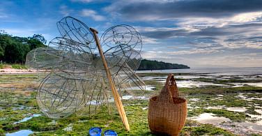 Fishing gear ready on Panglao Island, the Philippines. Photo via Flickr:Greg