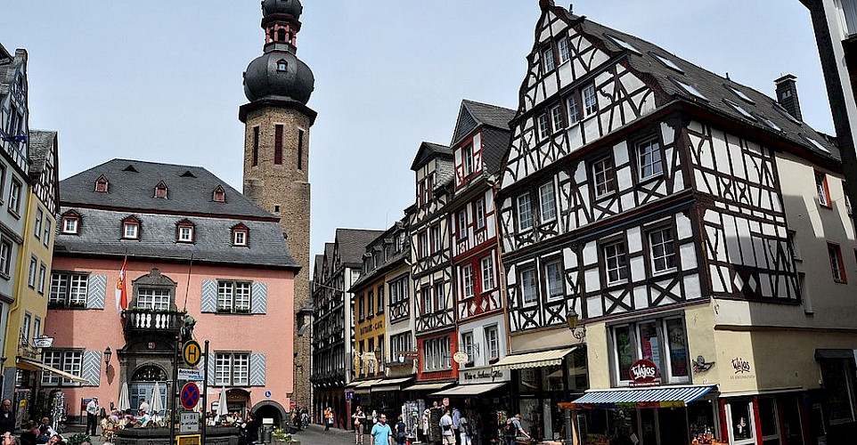 Bike rest on the Markt in Cochem, Rhineland-Palatinate, Germany. Photo via Wikimedia Commons:Vincent van Zeijst