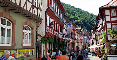 Shopping in the old town on Schwarzviertel, Miltenberg. Photo via Flickr:teutonic nights