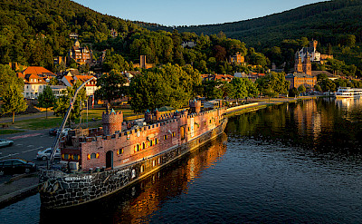 Bicycling along the Main River in Miltenberg, Lower Franconia, Bavaria, Germany. Photo via Flickr:Carsten Frenzl