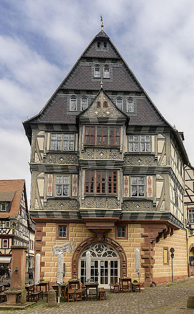 "Possibly ""the oldest guesthouse in Germany"", Hotel Zum Riesen, Miltenberg, Germany. Photo via Wikimedia Commons:Bytfisch"