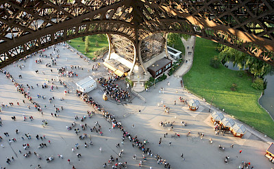 View from first level of Eiffel Tower, Paris, France. Flickr:Rous