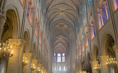 The famous Notre Dame Cathedral in Paris, France. Flickr:Ed Coyle