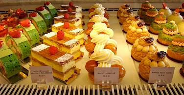 French pastries in Paris, oh la la.... Photo via Flickr:Bob Hall