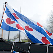 Flag of Friesland Province on board Magnifique II | Bike & Boat Tours