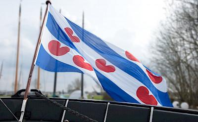 Flag of Friesland Province on board Magnifique II | Bike & Boat Tours