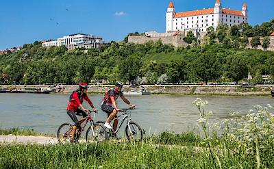 Biking the Danube River in Bratislava, Slovakia. ©Slovak Tourist Board