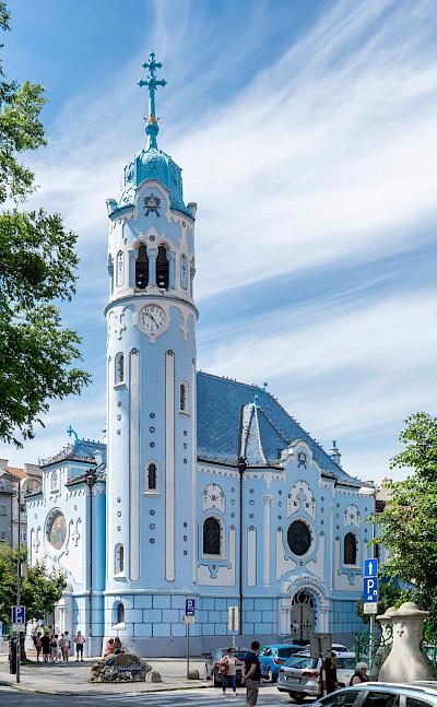 Blue Church in Bratislava, Slovakia. CC:Thomas Ledl