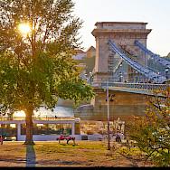 Chain Bridge over the Danube in Budapest. Photo via Flickr:Moyan Brenn