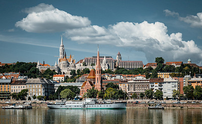 Biking along the Danube River in Budapest, Hungary. Flickr:zczillinger
