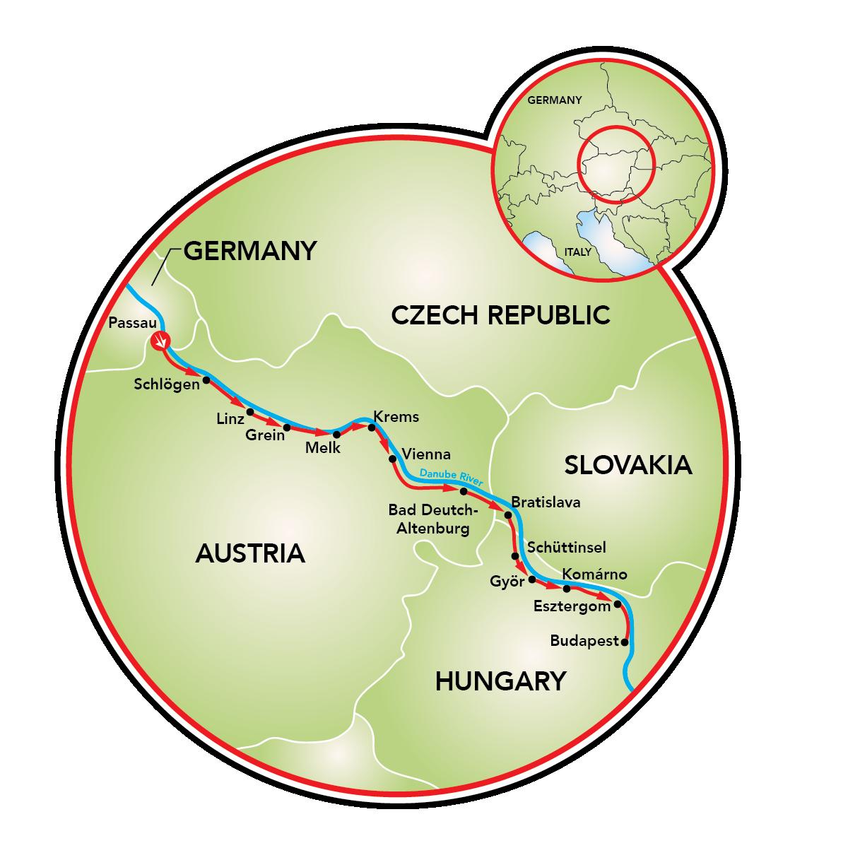 Danube Bike Path Passau to Budapest Bike Tour Germany Austria