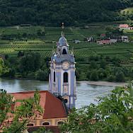 Durnstein within the vineyards of the Wachau wine region, Austria. Flickr:jay8085